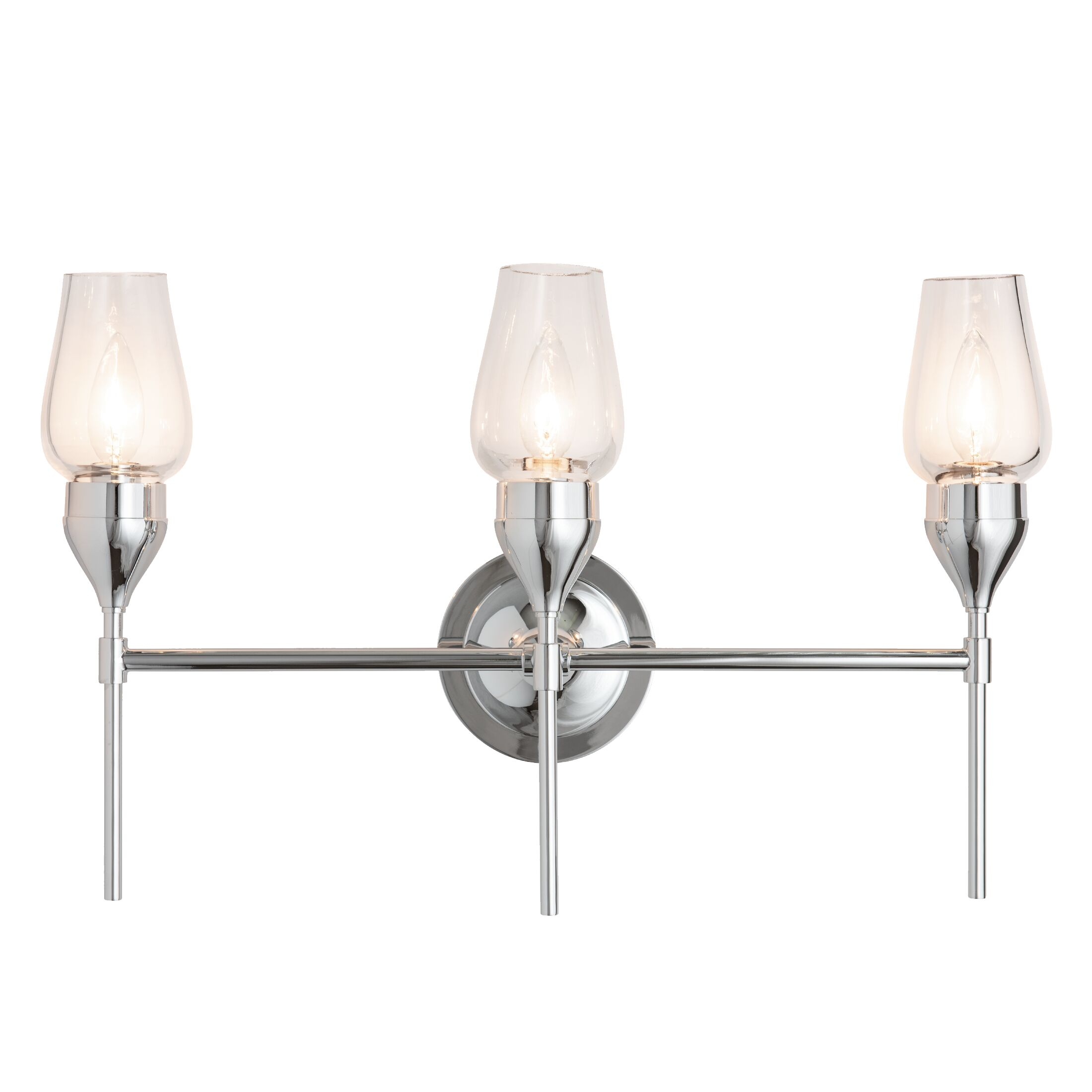 Thumbnail for Tulip Triple Sconce with Thick Blown Glass