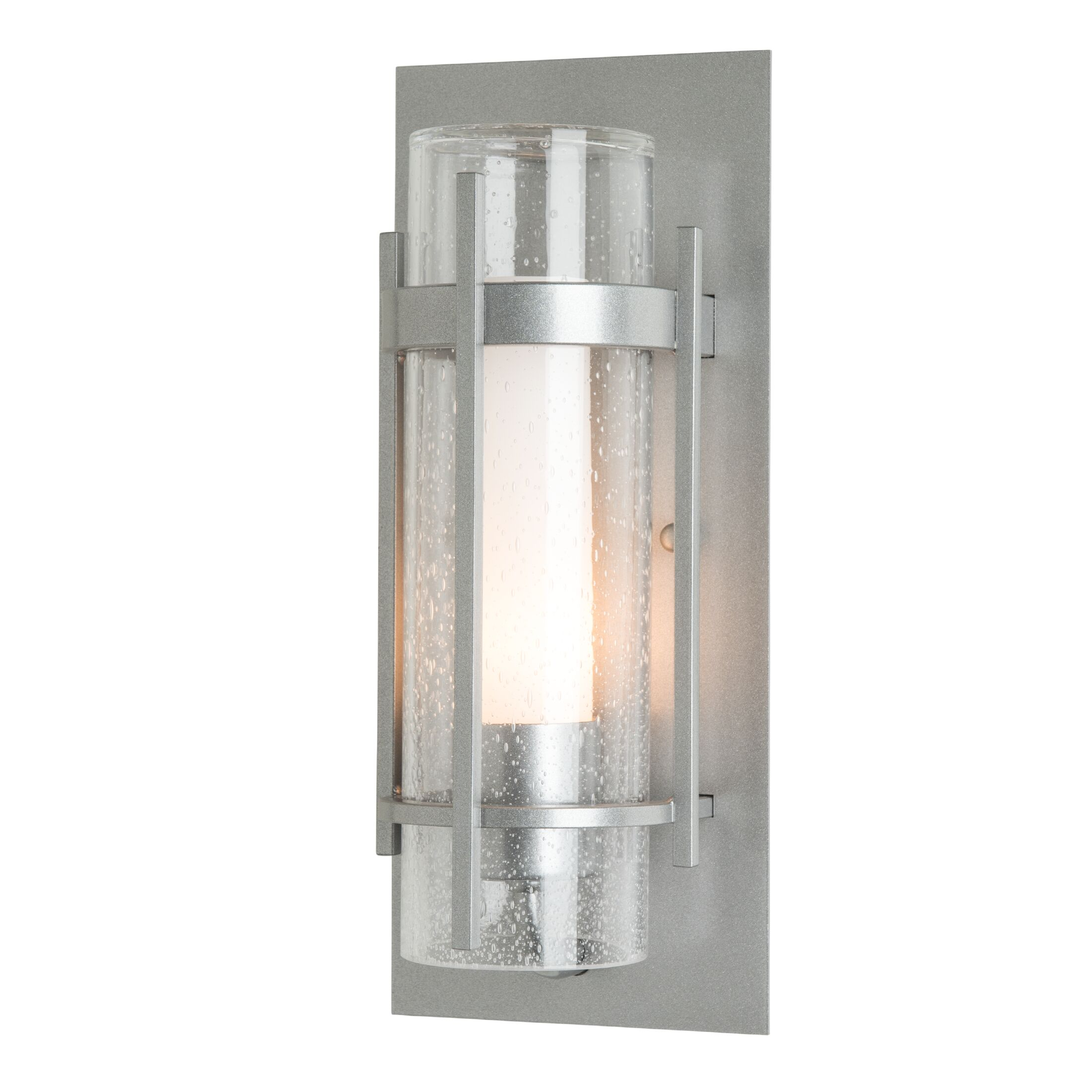 Product Detail: Banded Seeded Glass Indoor Sconce