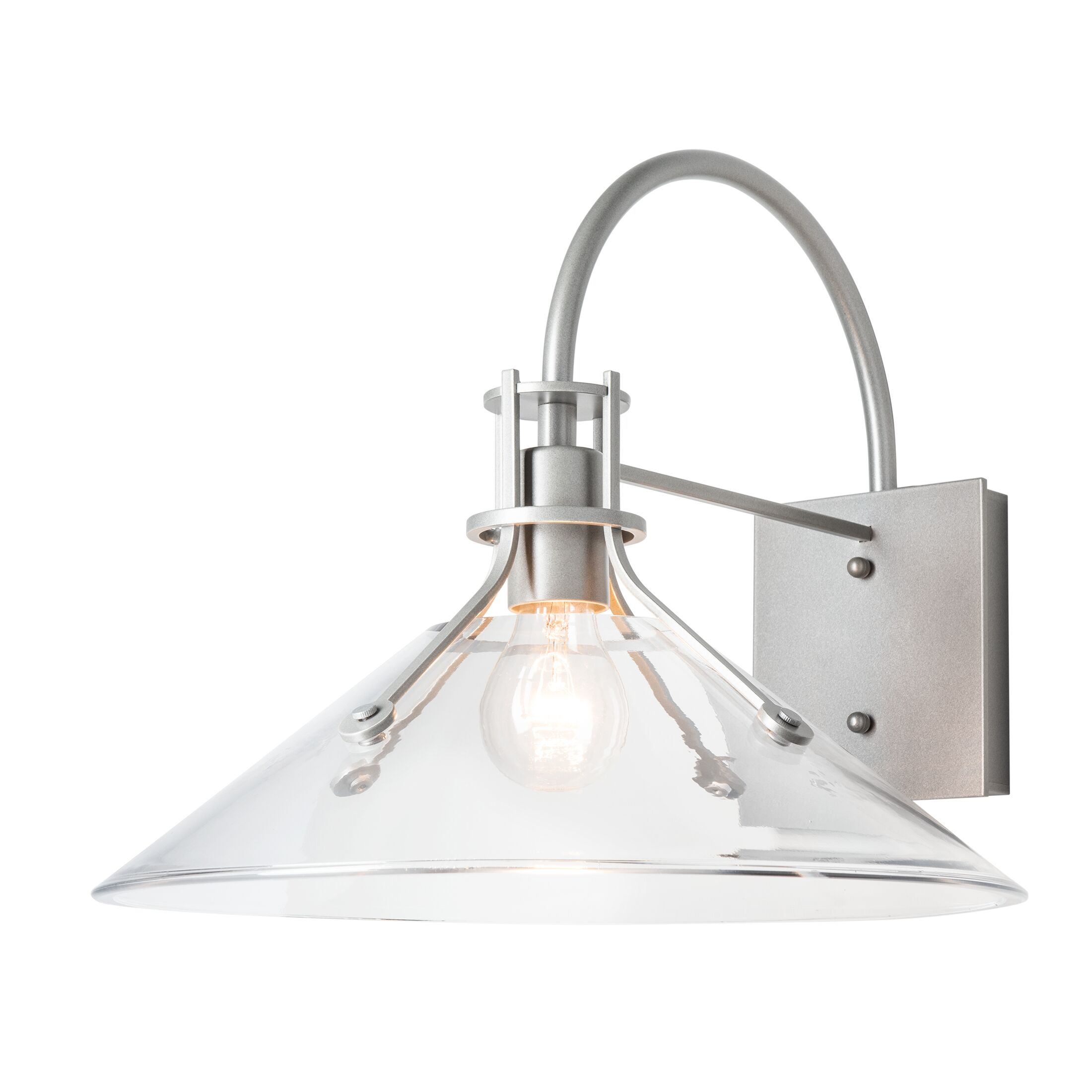 Product Detail: Henry Large Glass Shade Outdoor Sconce