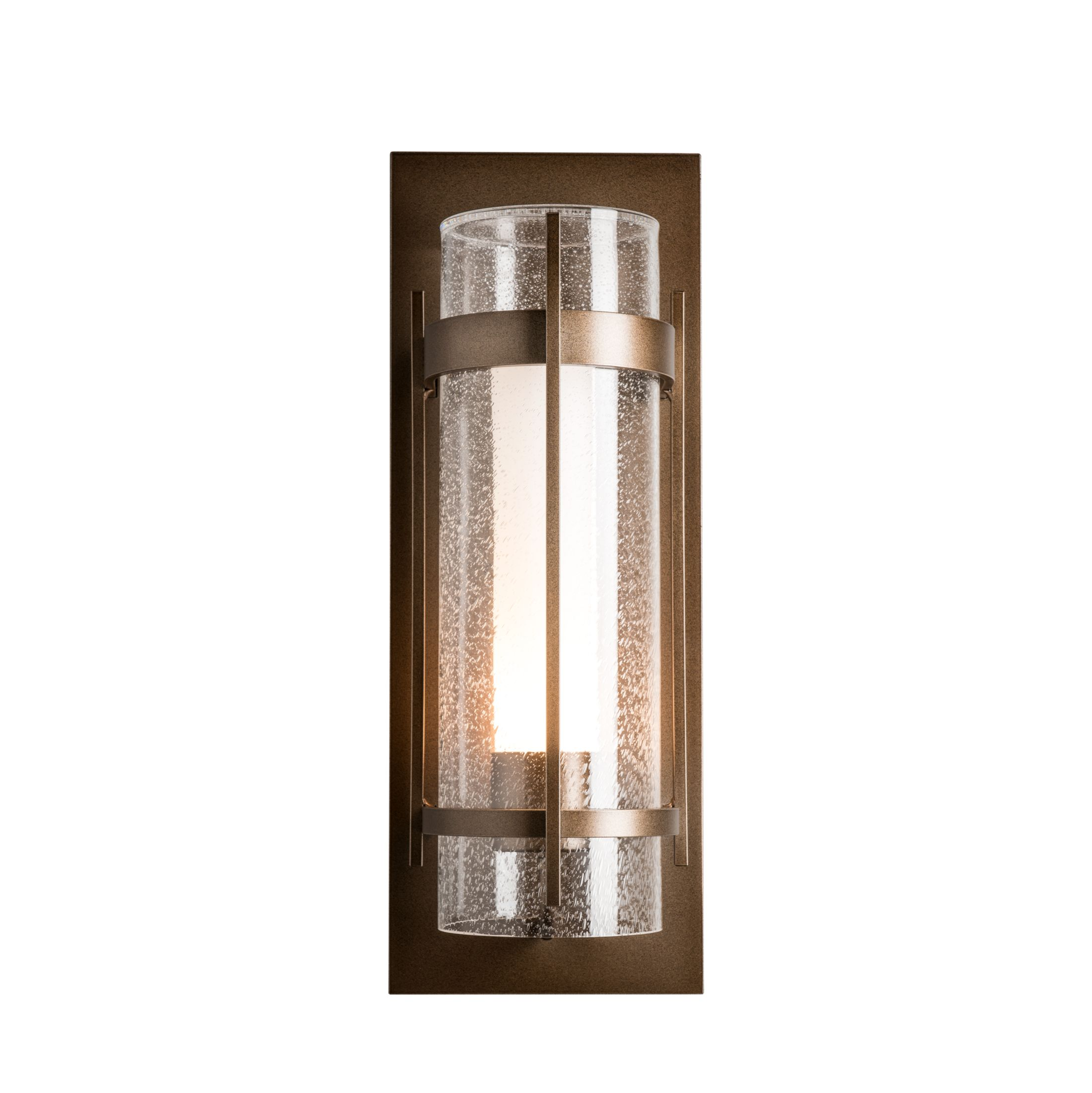 Thumbnail for Banded Seeded Glass Large Outdoor Sconce