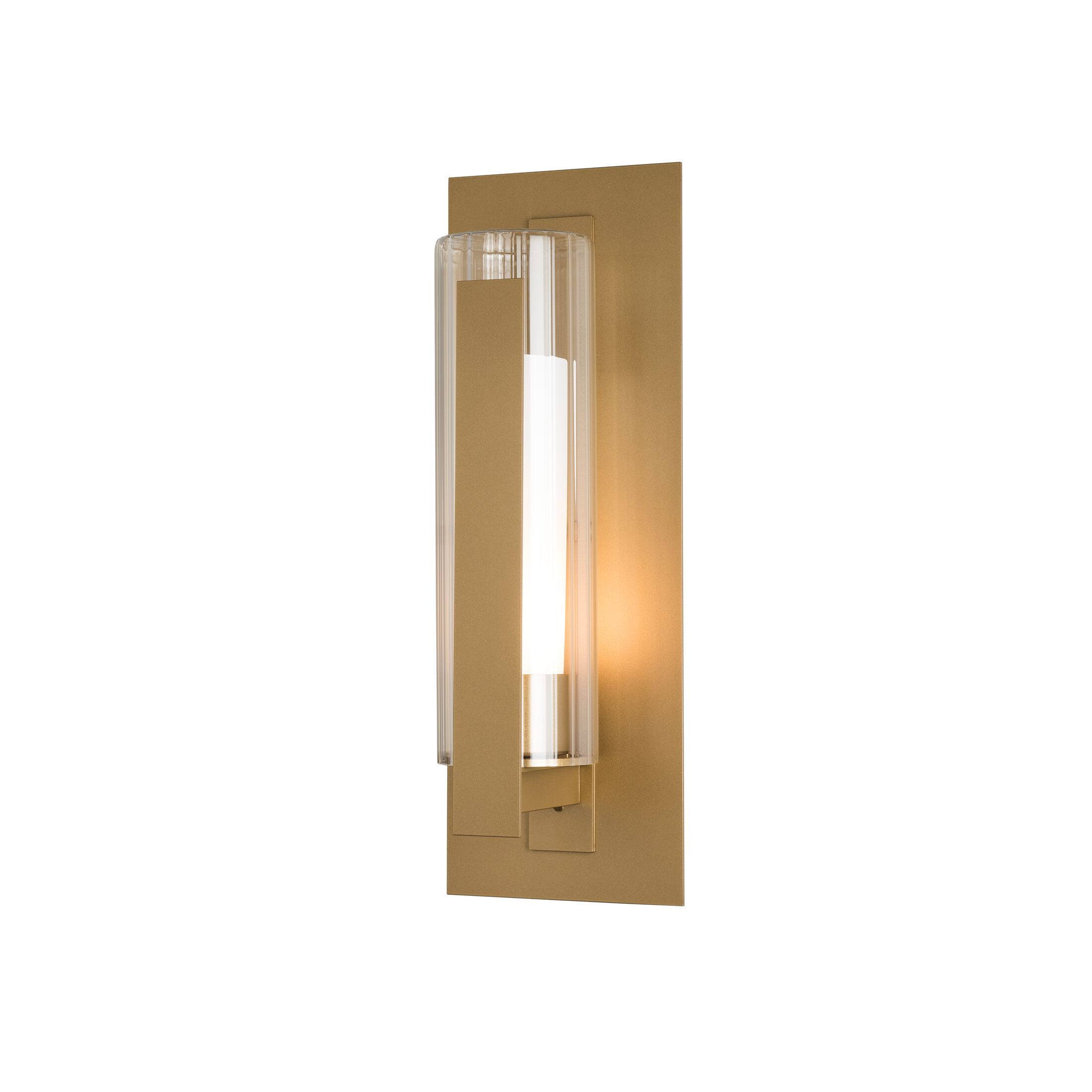 Thumbnail for Vertical Bar Fluted Glass Medium Outdoor Sconce