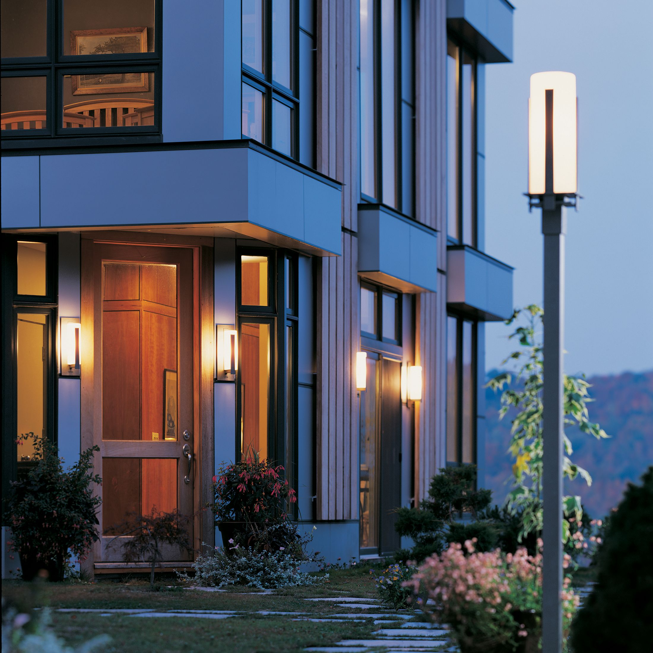 Forged Vertical Bars Outdoor Post Light Hubbardton Forge