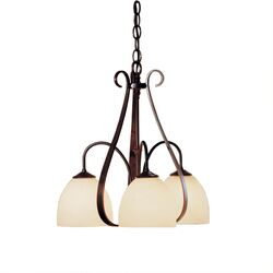 OUT-101441 Sweeping Taper 3 Arm Chandelier