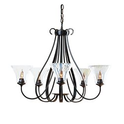 OUT-101454 Sweeping Taper 5 Arm Chandelier