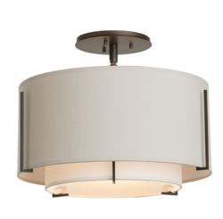 OUT-126501 Exos Small Double Shade Semi-Flush