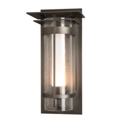 OUT-305998 Banded Seeded Glass with Top Plate Large Outdoor Sconce