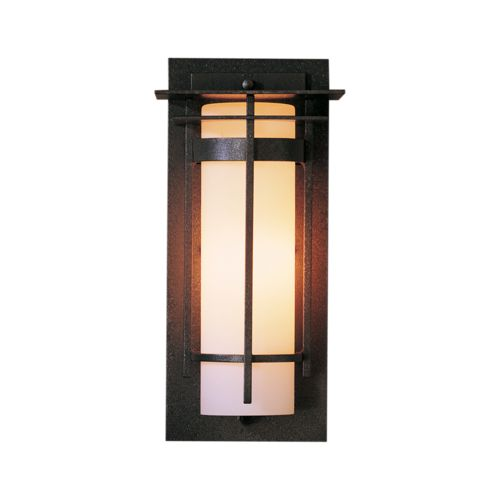 Product Detail: Banded with Top Plate Small Interior Sconce