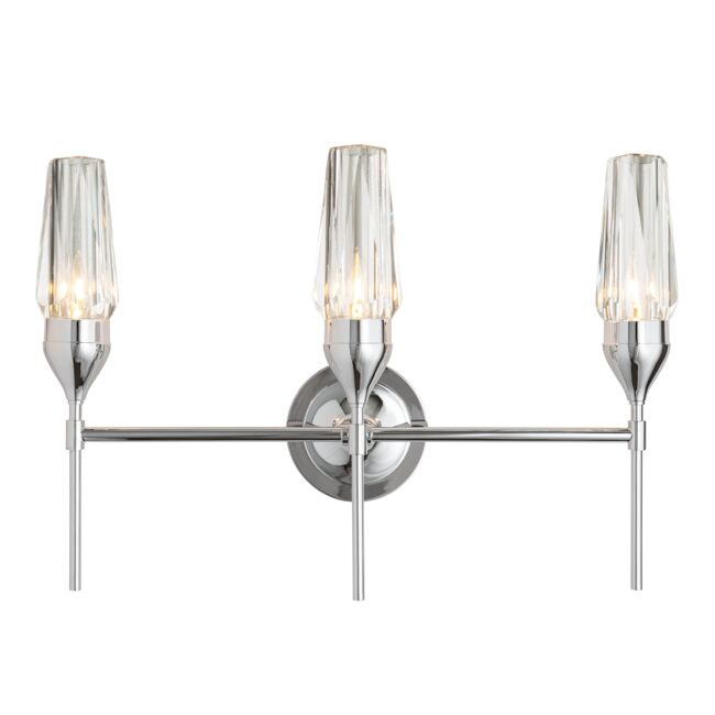 Product Detail: Tulip Triple Sconce with Crystal Glass
