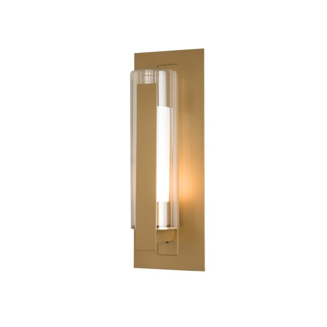 Product Detail: Vertical Bar Fluted Glass Medium Outdoor Sconce