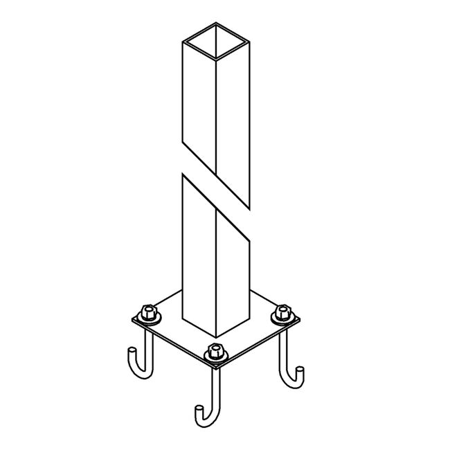Product Detail: Square Post Outdoor